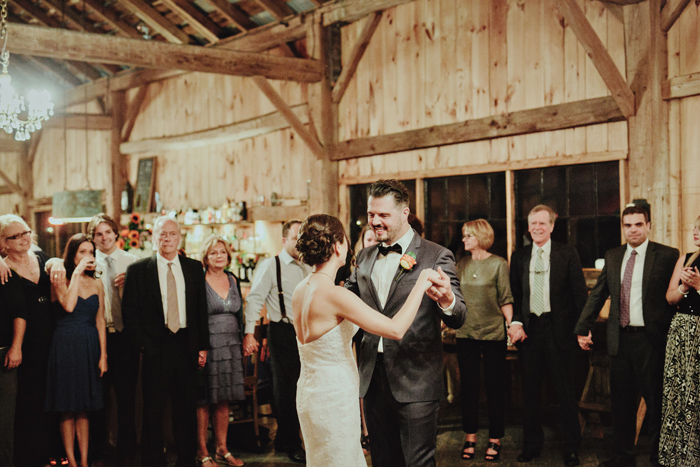 first dance at country wedding