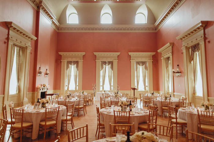 pink wedding venue st lawrence hall in toronto