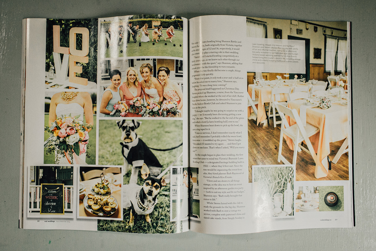 taylor roades real weddings magazine feature
