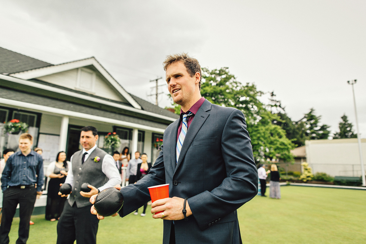 lawn bowling wedding in Victoria BC