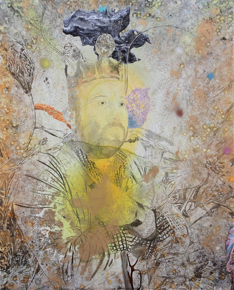 Tentative immobile de régner sur la France, Marc Molk, 2015, huile et acrylique sur toile, 162 x 130 cm