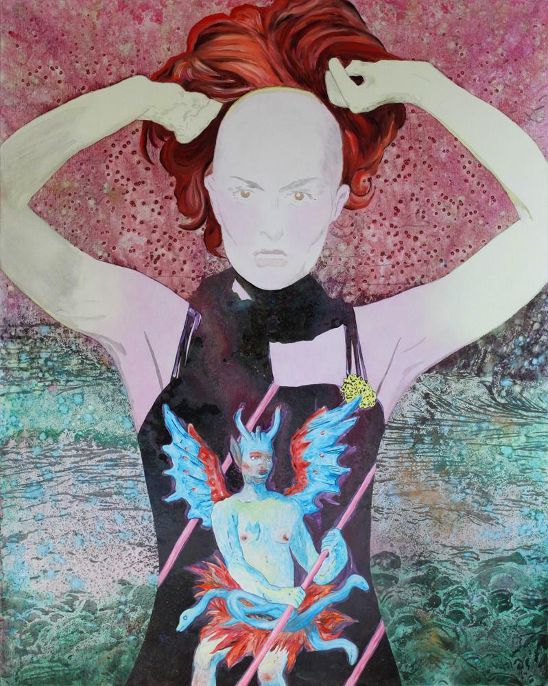 La Théorie des genres,  Marc Molk , 2012, huile et acrylique sur toile, 162 x 130 cm