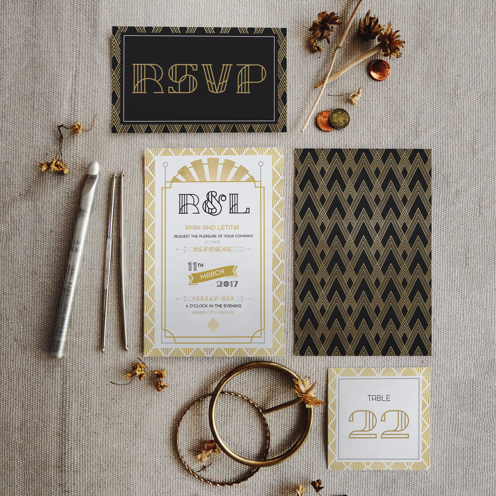 Stationary Design   | Art Deco Wedding Suite
