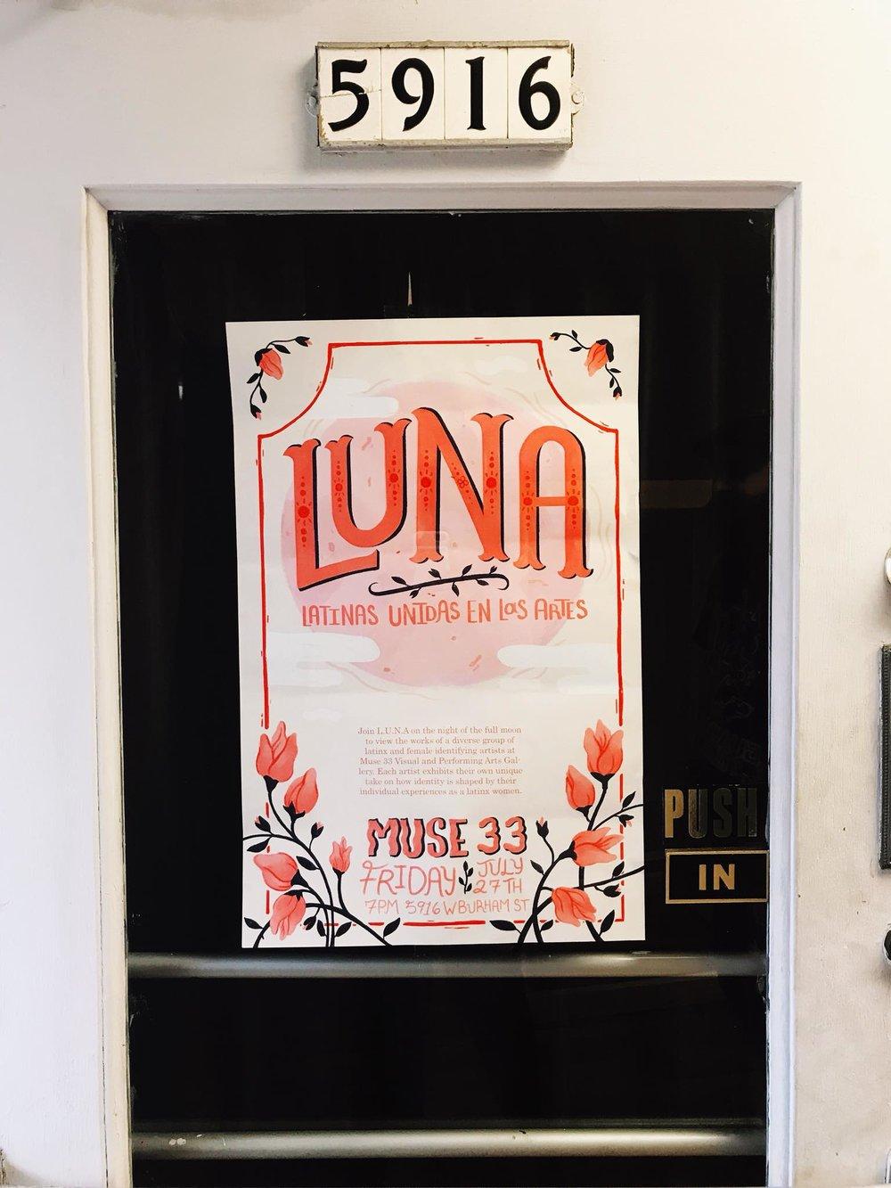 LUNA Debut poster by Cecilia Palacios