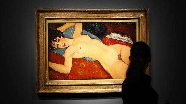 Amedo Modigliani, Reclining Nude, Christie's Auction
