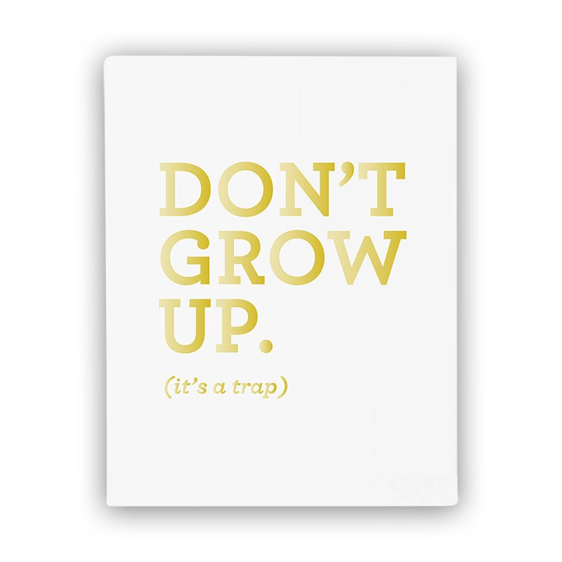 $27.50 The Penny Paper Co. Don't Grow Up Art Print