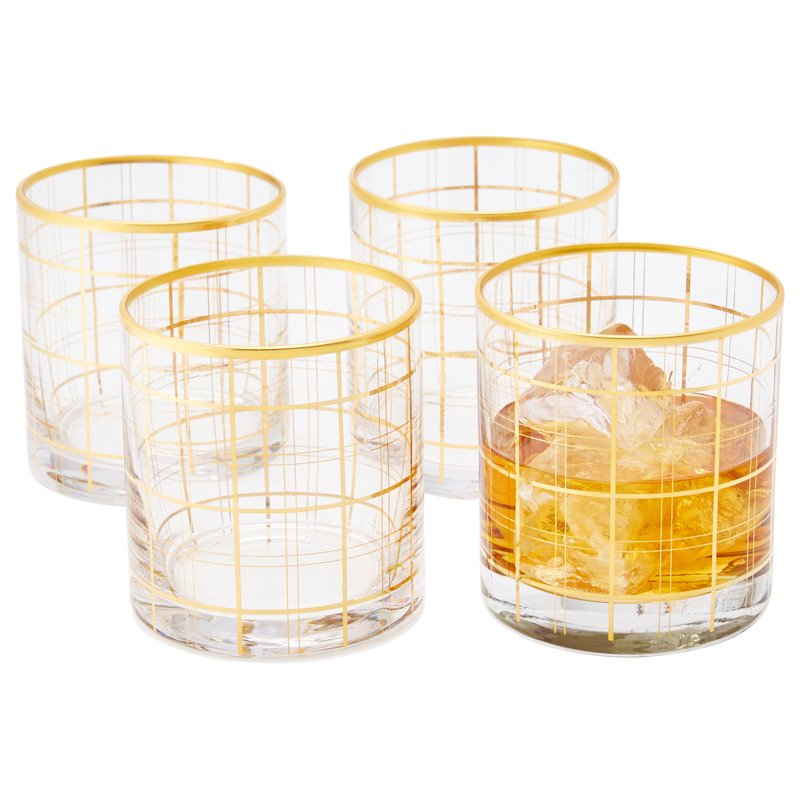 $15 Harvest Lowball Glasses - Set of 4