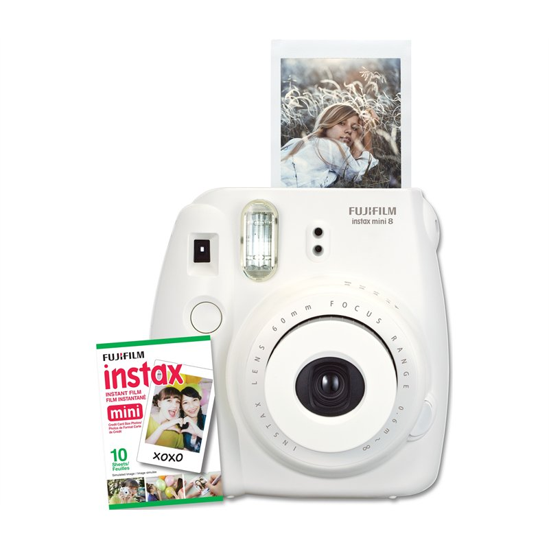 $89.99 Fuji Instax Mini 8 - White by Fuji Film
