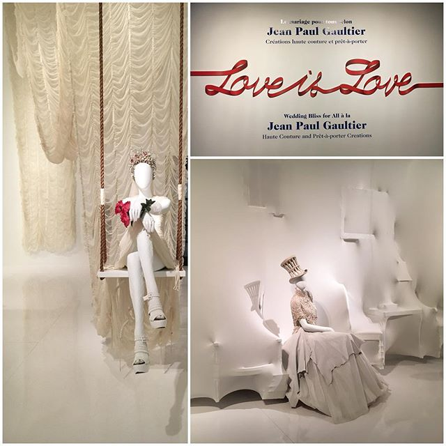 Jean Paul Gaultier's 'love is love' exhibition @mbamtl 👌🏽