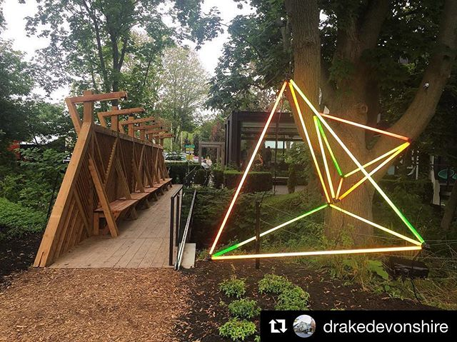 """#Repost @drakedevonshire ・・・ Follow the light 💡 @_jason_peters_ lights the way in our new #drakeart outdoor exhibition, """"View Finder."""" . . . . . . . #xoh #drakedevonshire #thedrake #pec #princeedwardcounty #countyup #discoveron  #dametraveler #darlingescapes #escapetoronto"""