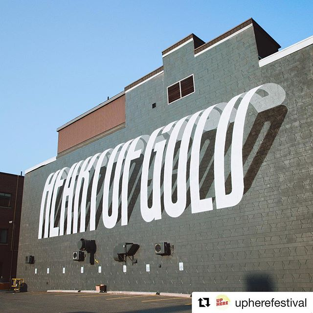 Heart of gold 💛  #Repost @upherefestival - Donezo! @benjohnstondesign killed it out on Larch street! Go check it out 🎉 . . . . . . . . . . #Sudbury #Ontario #benjohnstonart #streetart #mural #publicart #graffiti #benjohnstondesign