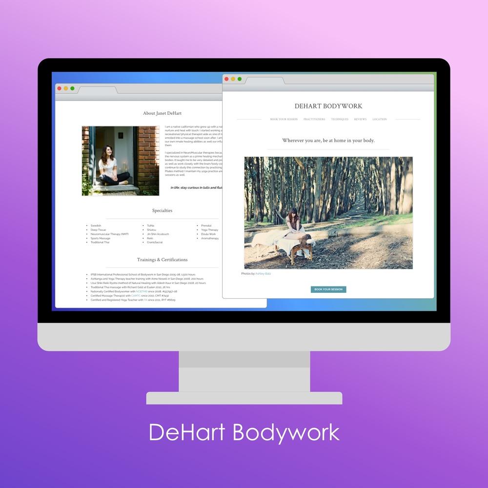 DeHart Bodywork website.