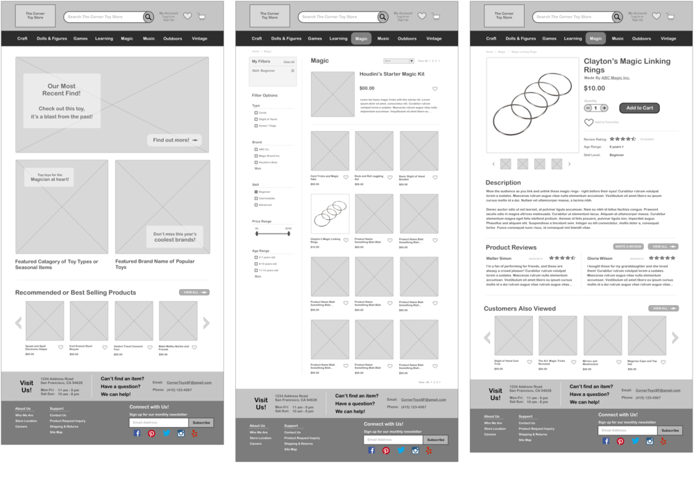 Wireframes created in Sketch 3.