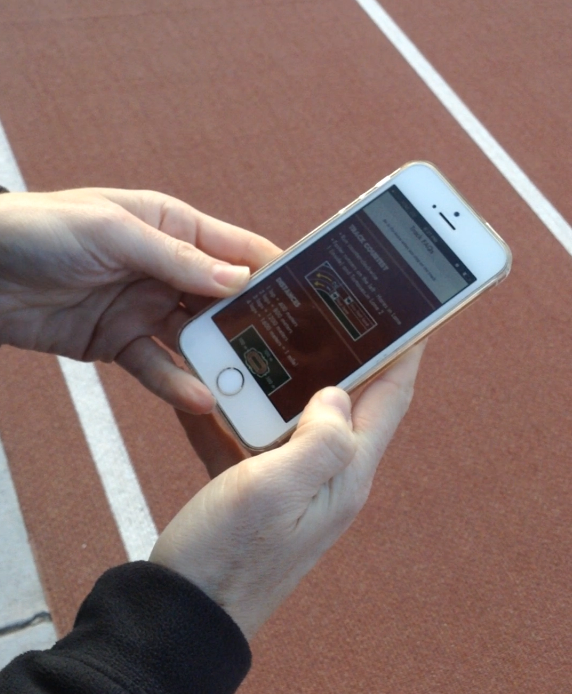 I asked Caryn to speak her thoughts aloud as she navigated the app while we were doing the track workout.