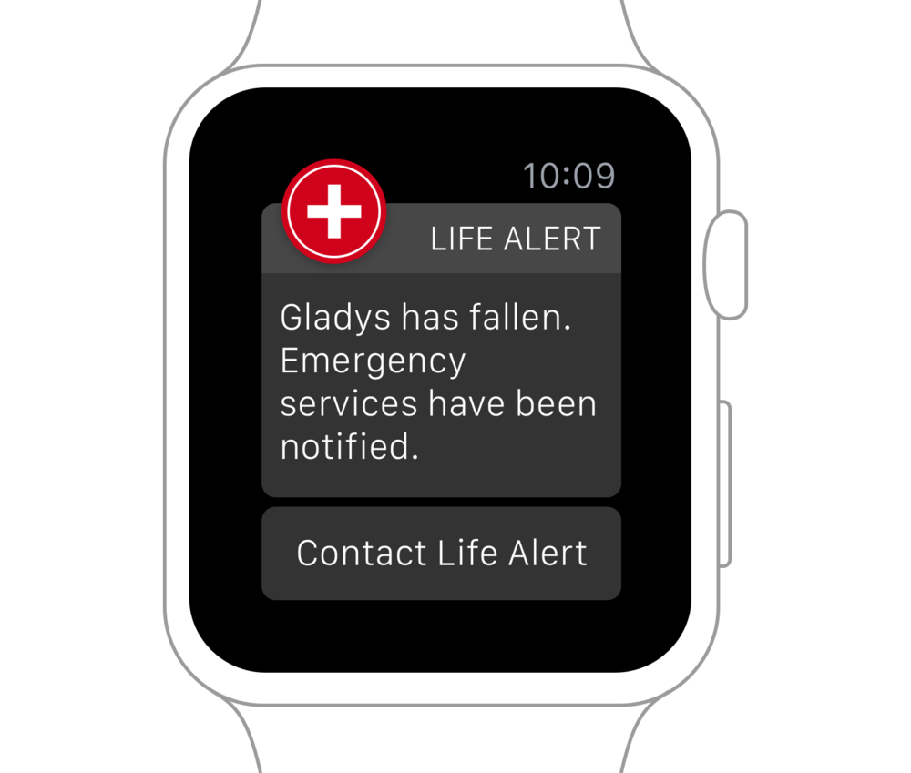 Life Alert Connect on Apple Watch Mockup