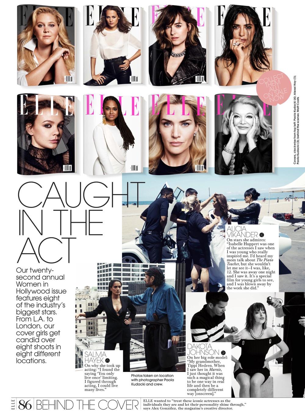 Elle Women in Hollywood - Behind the Scenes