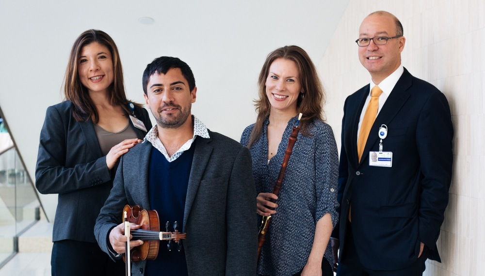 from left to right: Dr. Andrea Wolf, Nadir Aslam, Kristin Olson, Dr. Andrew Kaufman