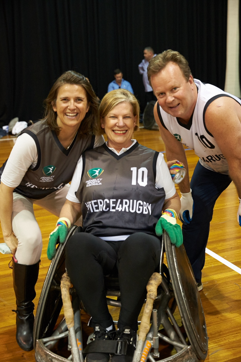L-R Jenni Cole, CEO DSA, Anne Sherry AO ARU, Bill Pulver CEO ARU.
