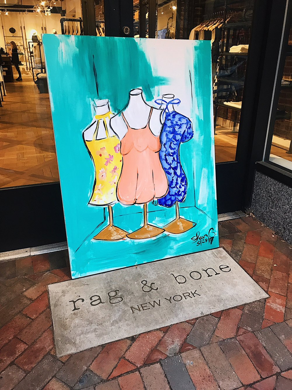 shawn outen live paints at rag and bone washington dc