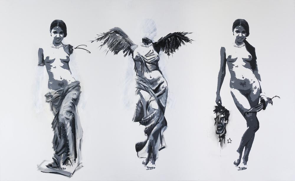 One and Three Women No. 1