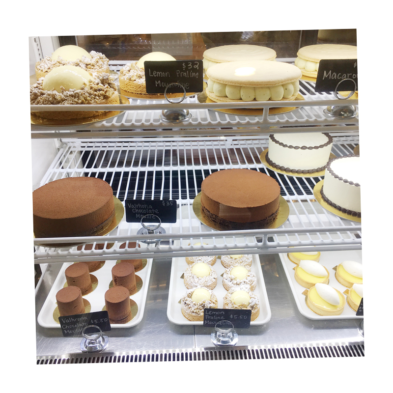 pastry case at la fournee
