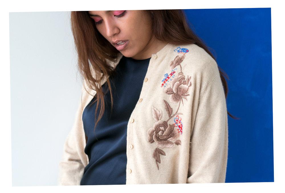 embroidered vintage cardigan