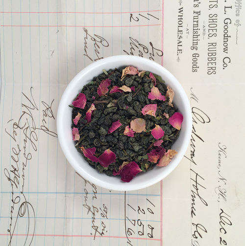 steep tea co's double mint rose tea