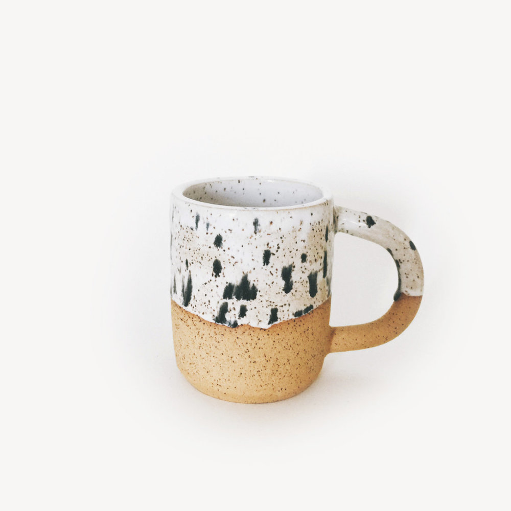 spotted mug by om ceramic