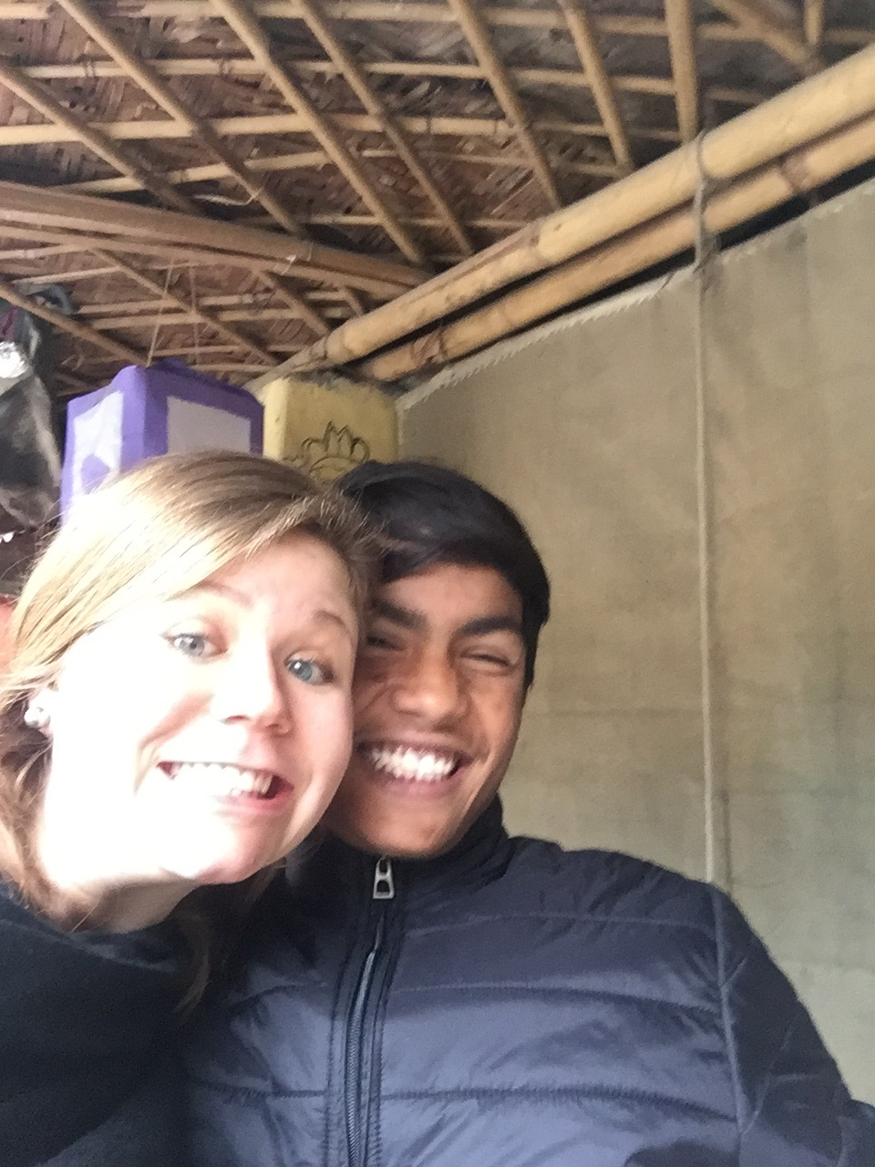 Emily and Utpal at the Women's Center in 2017