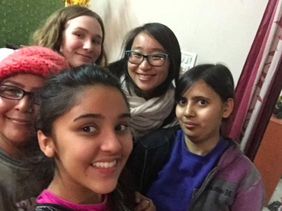 Meeting new friends in Gali 5 for  Lohri  festivities!