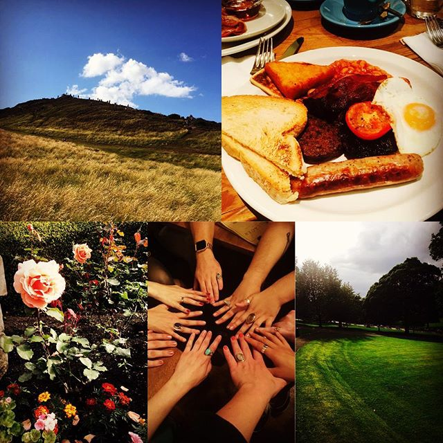 Kaia here!!!! A day in the life.....of an alien chicken, a nymph, or a star crossed lover: Arthur's seat hike, a typical Scottish breakfast, Oh yeah, haggis please!, the power of our rings, and beautiful sights everywhere #mofsecdoesgalatea #edfringe2017 #edinburghfestival #edinburgh #theatrefun