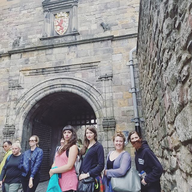 The gang touring the Edinburgh Castle. Man, do we miss these jokesters. 📷 @missnoelley  #edinburghcastle #edinburghfringe #edinburghfestival #mofsec #mofsecdoesgalatea #forscotland #touring #actress #pdxtheatre #instagramtakeover #independenttheatre #ladieswholead #feminism #edfringe #edfringe2017 #tourist #sightseeing #scotland