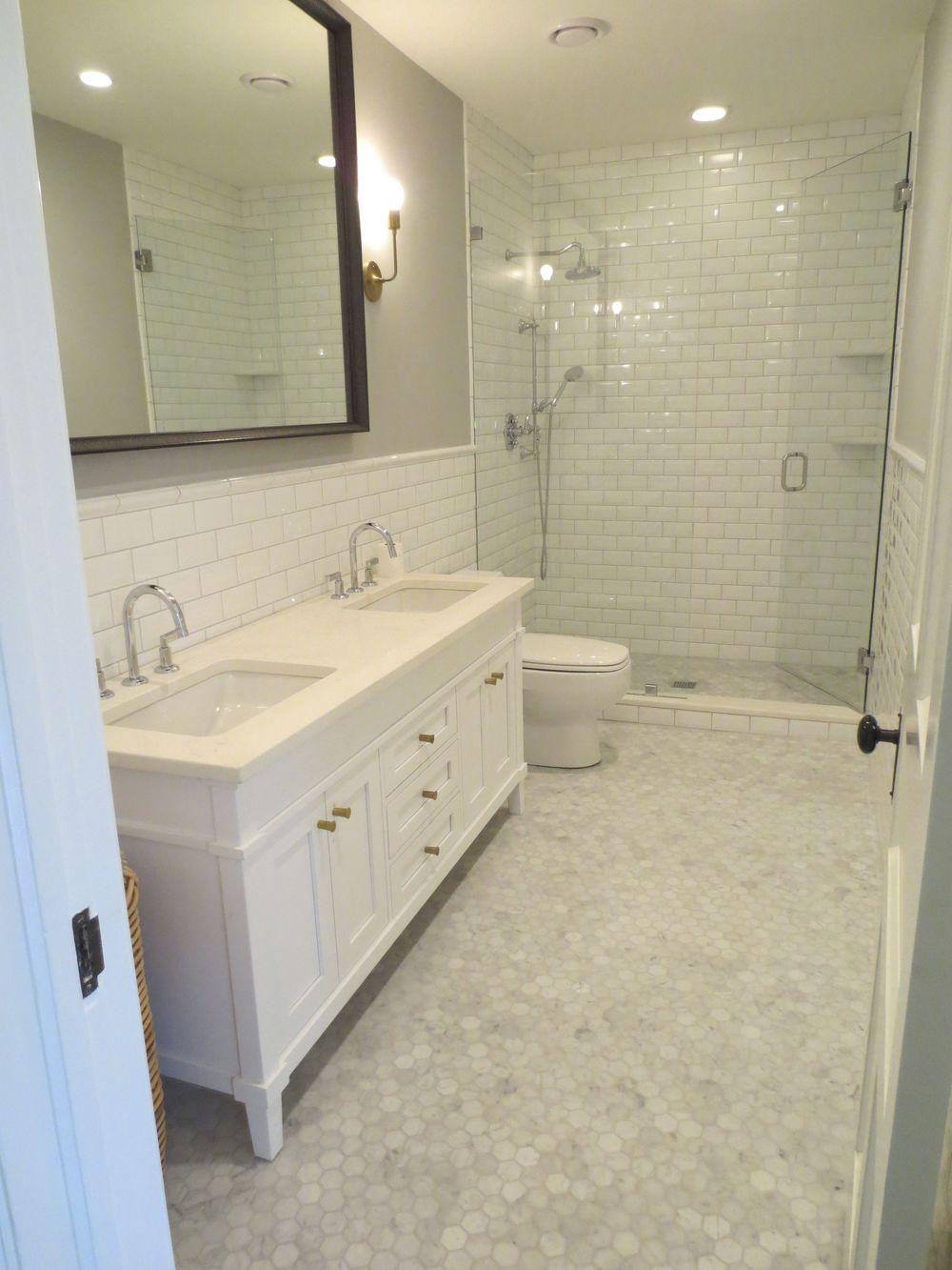 Bathroom Renovation - White Subway Tile