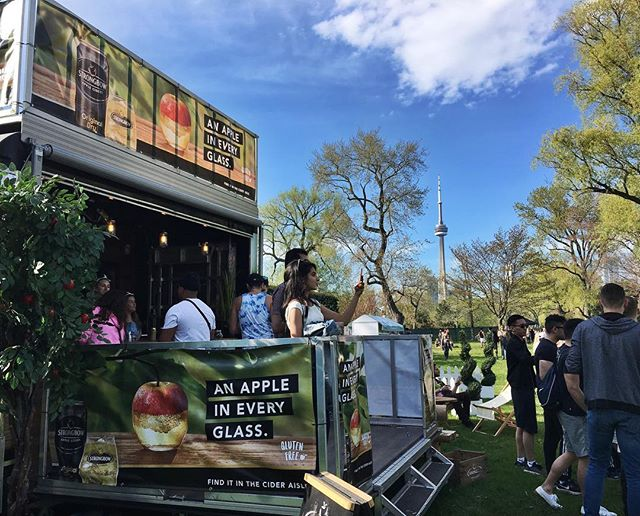 Check out the views from our @strongbow trailer at Electric Island. Stop by and grab a sample of Original Dry or Gold on us!