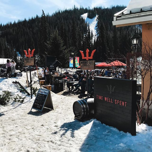 Mount Gay Firehouse is ready to serve you some AMAZING cocktails on Masa's patio in Sun Peaks Resort! Just in time for #snowbombingcanada coming up soon! Be sure to make you're way up to Sun Peaks and enjoy the incredible spring conditions...and the only way to aprés with Time Well Spent.
