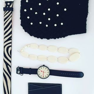 Accessories are like icing on the cake; you can live without them, but why would you! These fabulous pieces from #RuePigalle in Toronto. #MaisonVaincourt #belt and #cardholder #JenniferBehr #pearl #beanie #Newgate #watch #thelaconsultinggroup #whattowear #fall2016