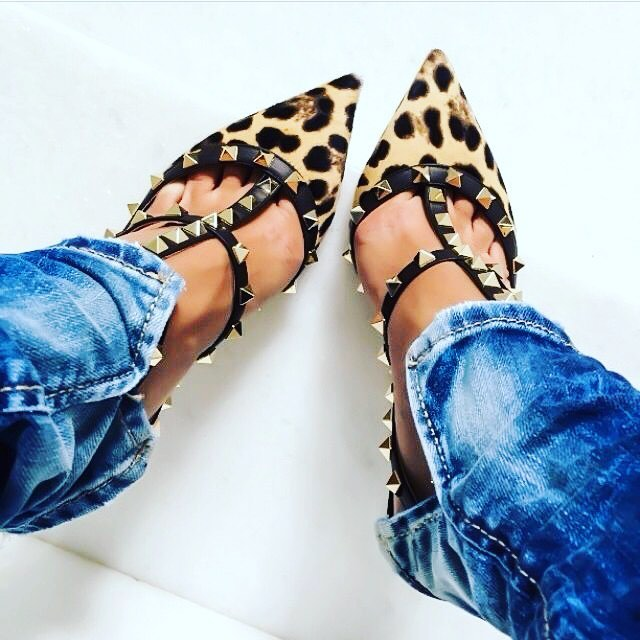 Fall mash-up of distressed denim with lux footwear! #fallfashion #mixitup #animalprint #denim #loveyourclothes #whattowear #thelaconsultinggroup