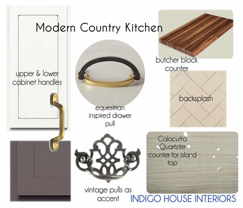 Design concept board to give new homeowners direction to tackle a DIY renovation on their new old kitchen