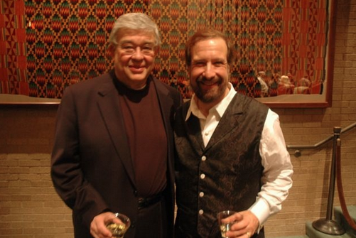 Bob Freeman and Andrew Heller after their performance at McCullough Theatre
