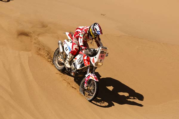 Pivot Pegz equipped Dakar Rally bike