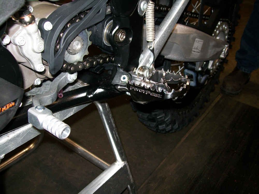 Pivot Pegz fitted to a KTM 300EXC