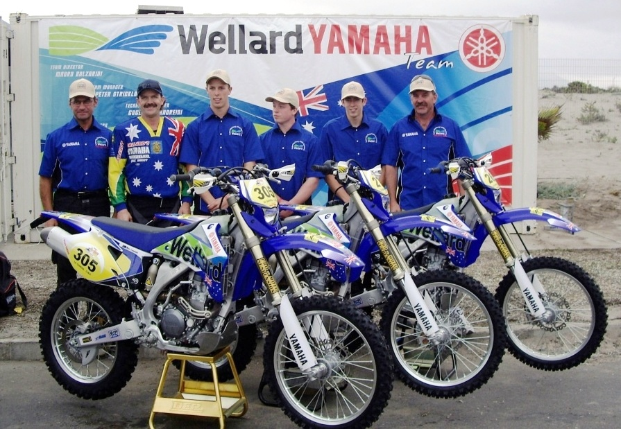 Pivot Pegz equipped Wellard Yamaha race bike.