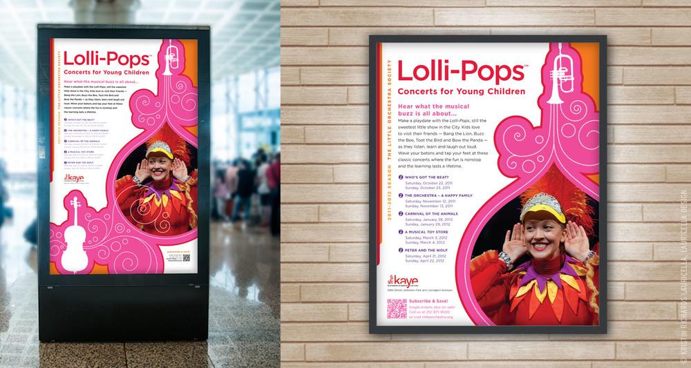 Lollipops Concerts Outdoor Signage & Poster