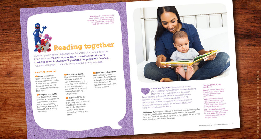 "Early Literacy ""Talking is Teaching"" Parent Guide (interior)"