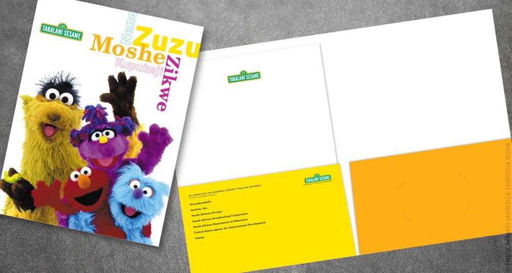 """Press Kit Folder and Letterhead for """"Takalani Sesame"""" (Sesame Street South Africa)"""