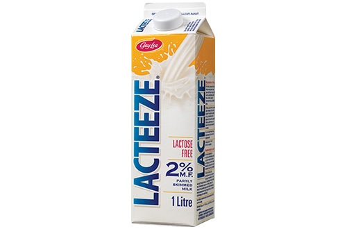 {Lacteeze milk available at Longo's  exclusively  in Ontario}
