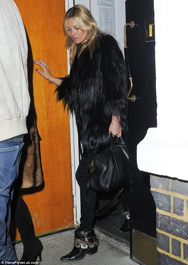 Supermodel Kate Moss in her Leontine Iconic Boots