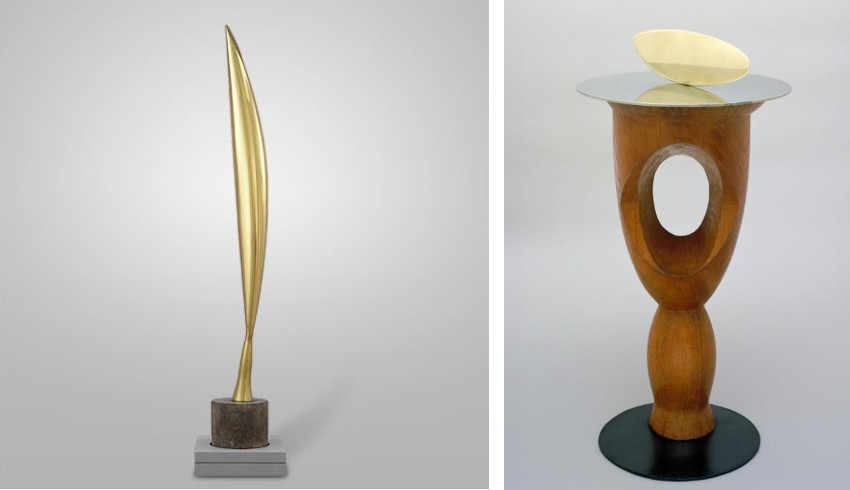 Constantin Brancusi - Bird in Space (Left) - Fish (Right).jpg