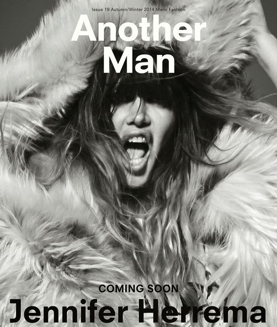 Leontine Boots on Jennifer Herrema in editorial in Another Man