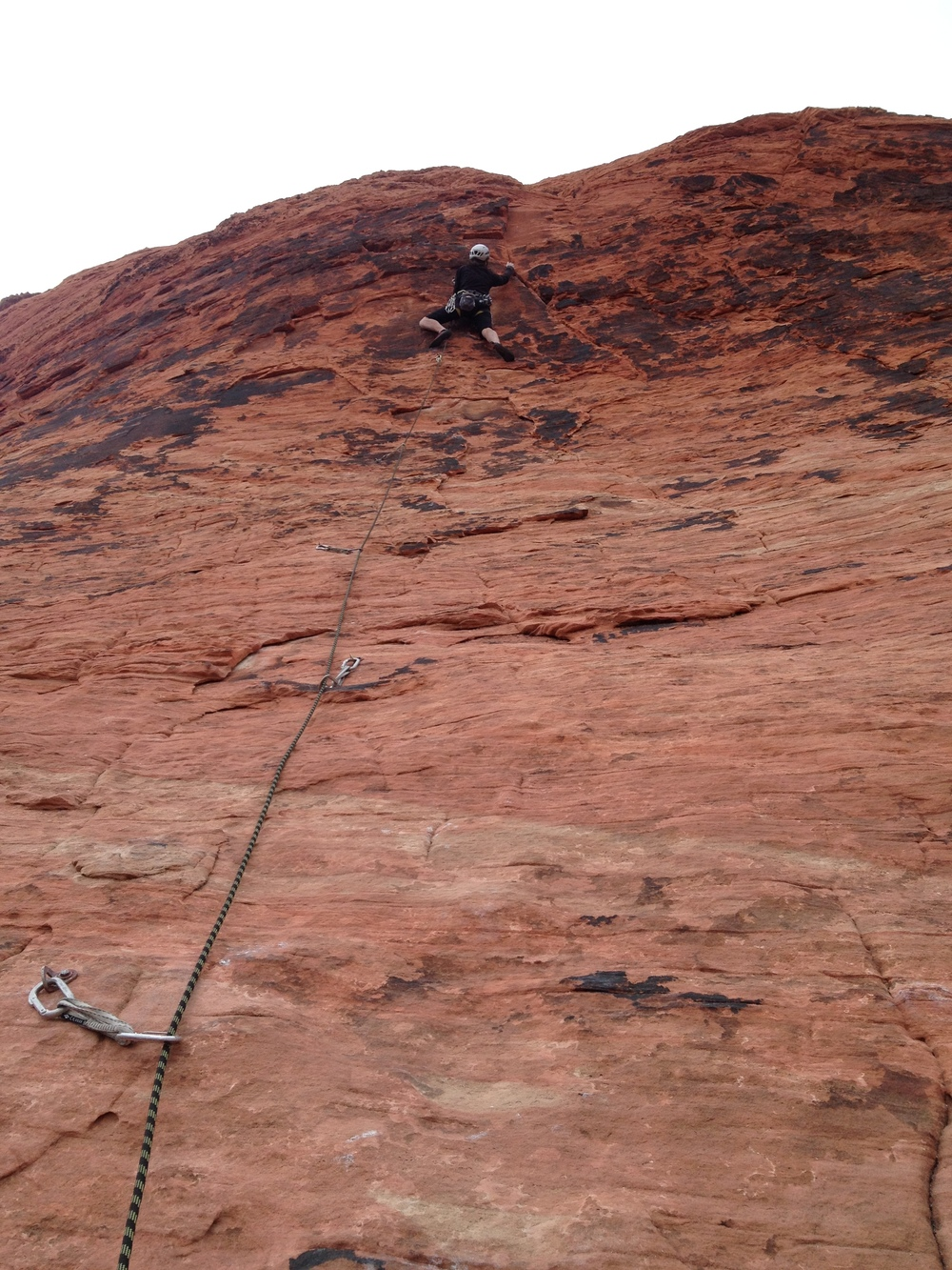 Getting above the boulder line in Red Rocks Canyon (NV)